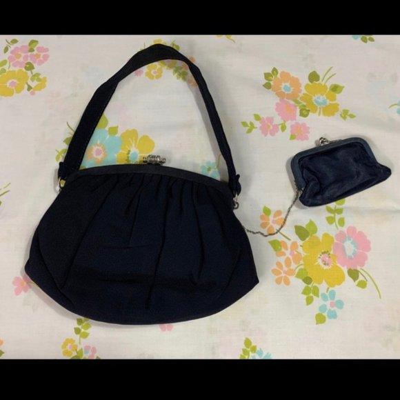 Vintage Handbags - 50s Garay Handbag With Attached Coin Purse